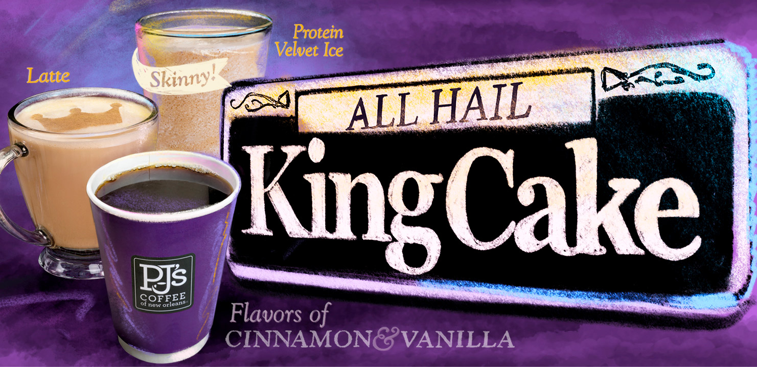 PJ's Coffee King Cake Flavors