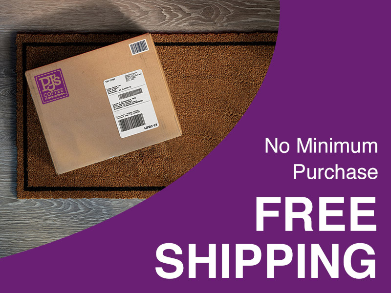 No mimimum purchase. Free Shipping
