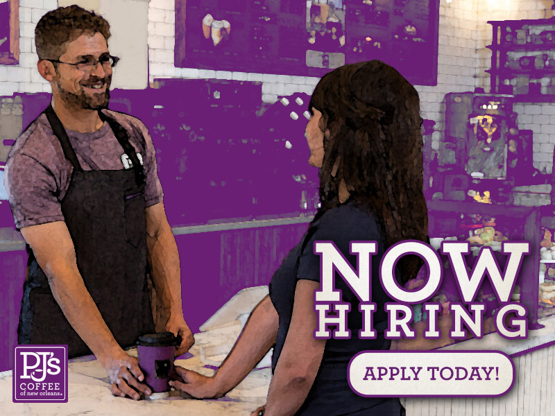 Now hiring.  Apply Today