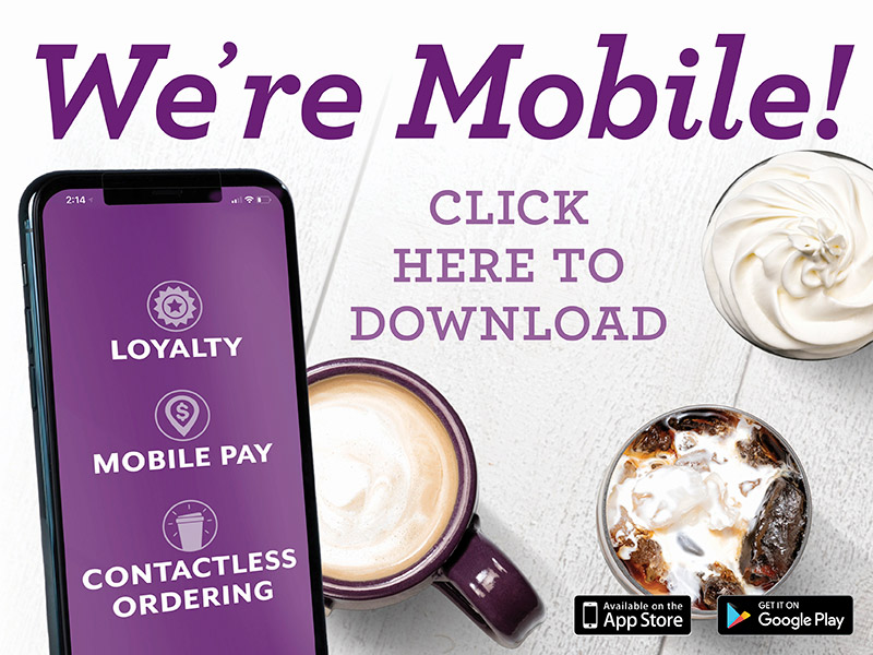 We are mobile. Click here to learn about our mobile app and download.