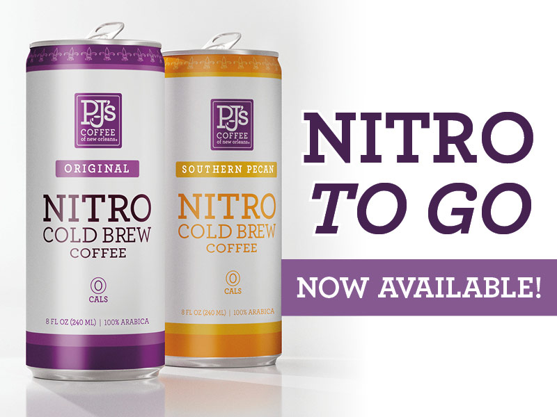 Nitro Cold Brew Now Available. Southern Pecan and Original