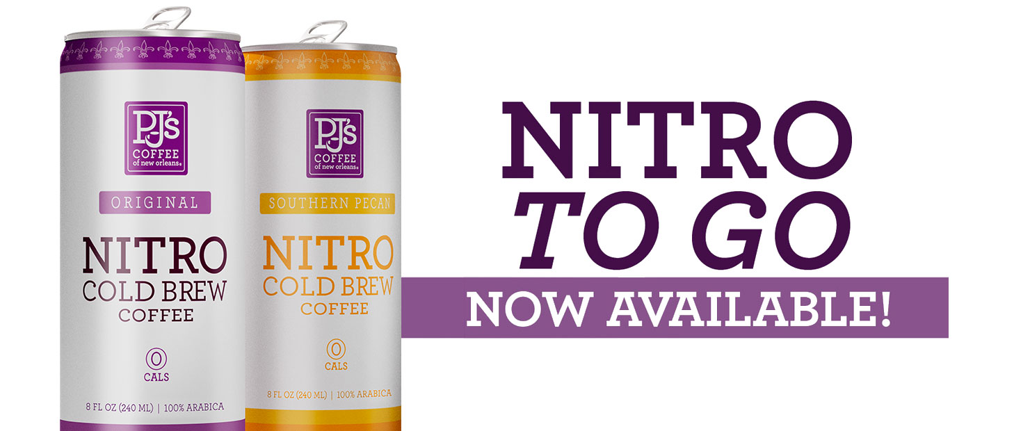 Nitro Cold Brew Now Available.  Southern Pecan and Original!