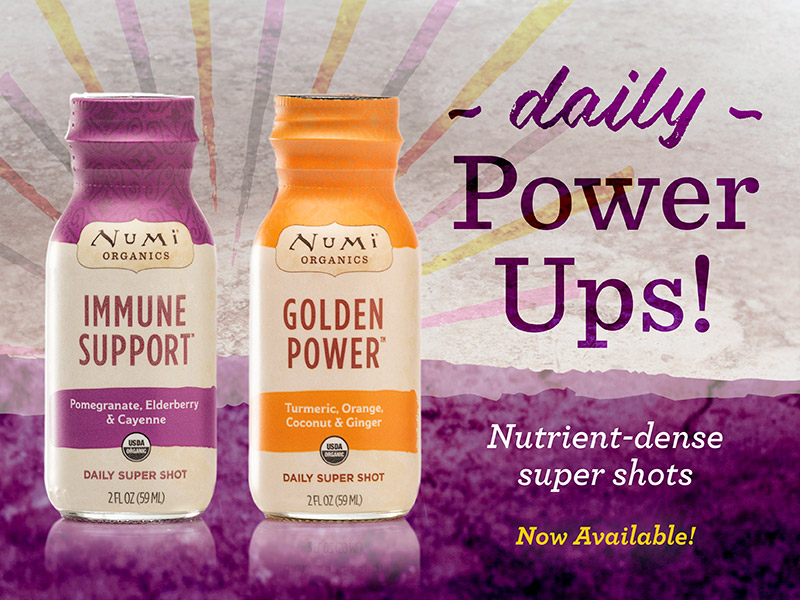 Daily Power ups.  Nutrient dense super shots. Now Available.