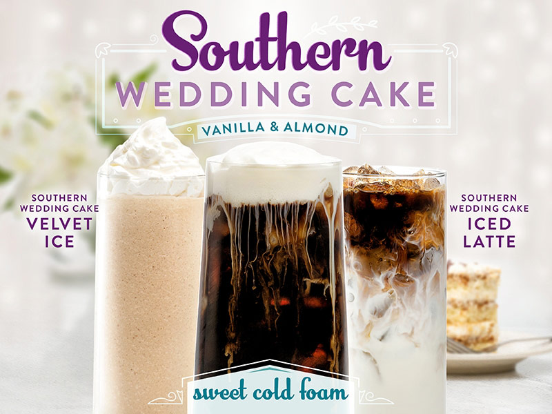Southern Wedding Cake.  Flavors of Light Almond and Vanilla Together at Last.  Click for details.