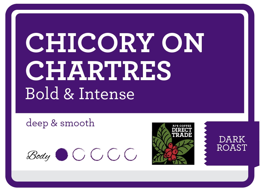 Chicory on Chartres Product Label