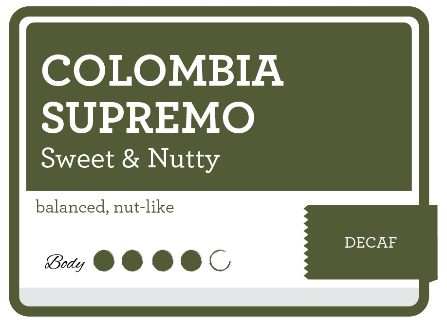 Decaf Colombia Supremo  Coffee
