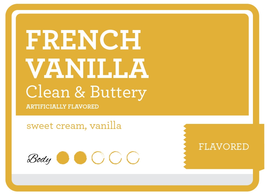 French Vanilla Product Label