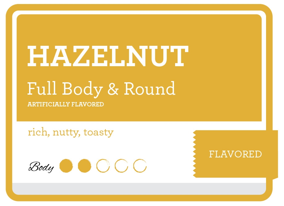 Hazelnut Product Label