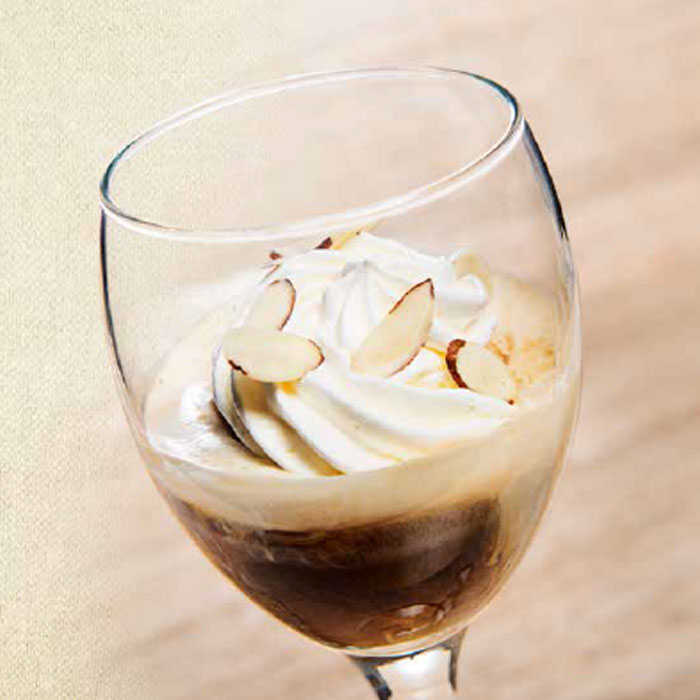 Chilled Amaretto Coffee Affogato Recipe