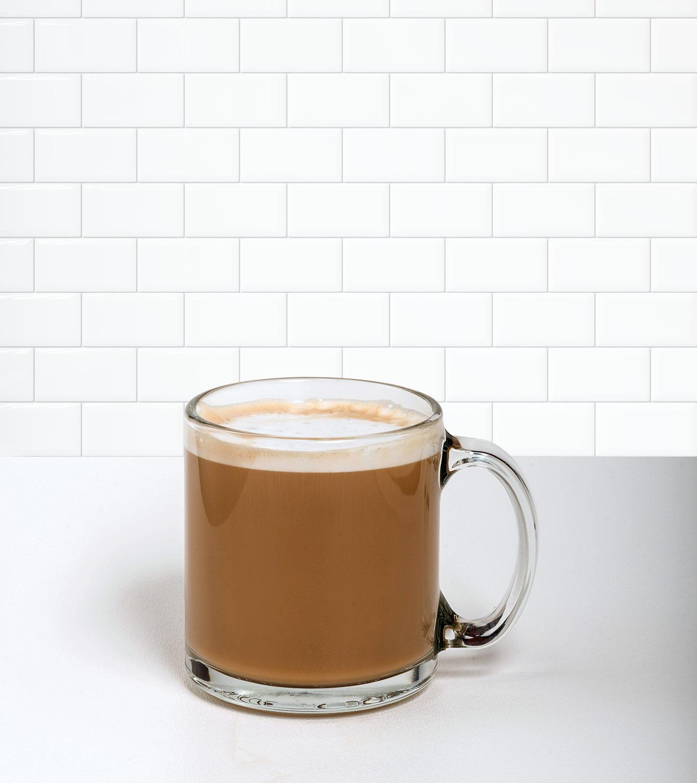 Café Au Lait in a beverage container