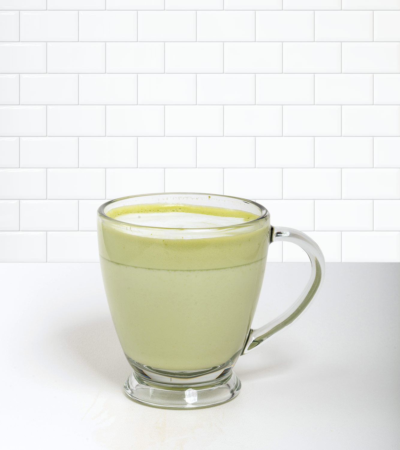 Green Tea Latte in a beverage container