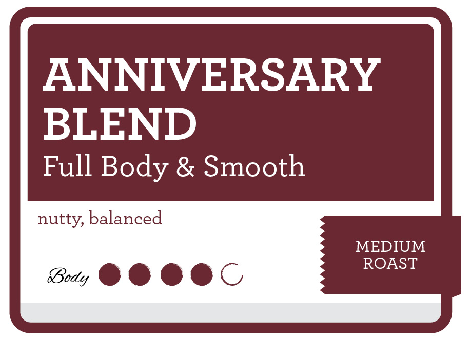Anniversary Blend Product Label