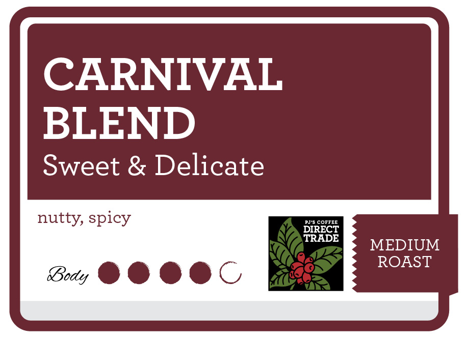Carnival Blend Product Label