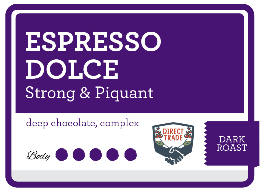 Espresso Dolce Product Label