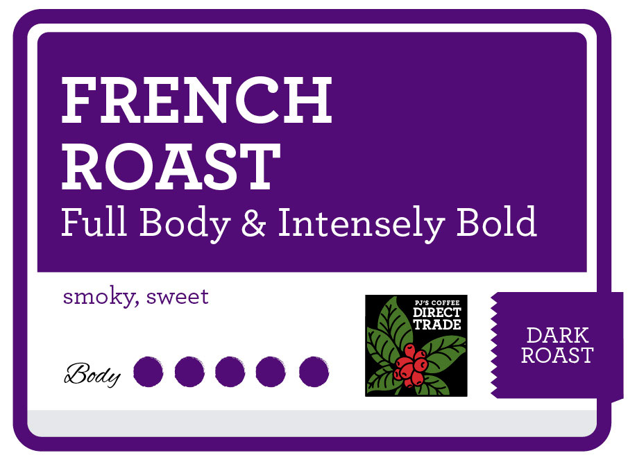 French Roast Product Label